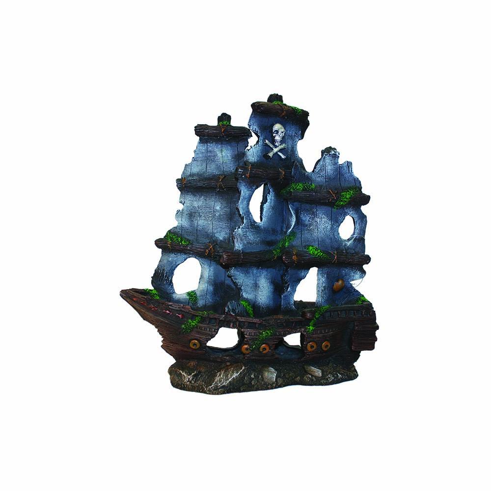 Pirate Ship & Sails 38x13x41cm