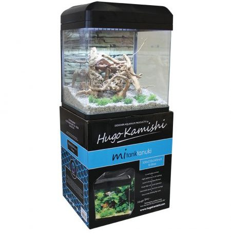 Hugo Kamishi Tanuki 16l Aquarium in black