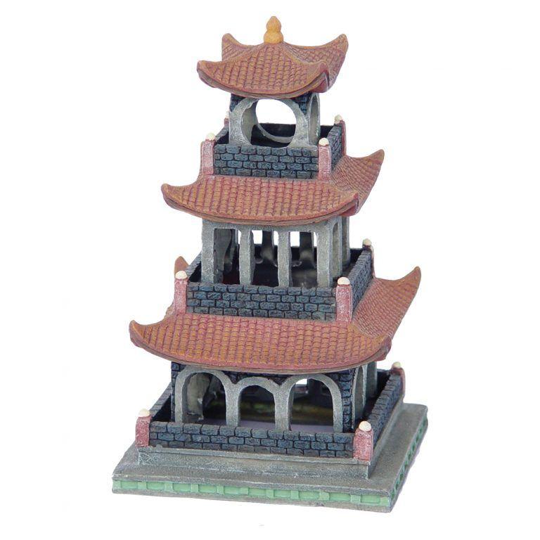 Pagoda Building 13x13x22cm